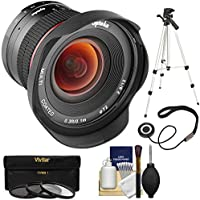 Opteka 12mm f/2.8 HD MF Prime Super Wide-Angle Lens with 3 UV/CPL/ND8 Filters + Tripod + Kit for Fujifilm X-Series Digital Cameras