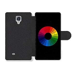 Colour Wheel for Artists Reference on Stylish Black Funda Cuero Sintético para Samsung Galaxy S4