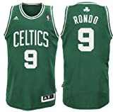 NBA Boston Celtics Rajon Rondo Replica Road Youth Jersey, Green, X-Large