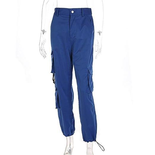 Lady Pants Leisure Slim Fit Pantalones de carga para mujer ...