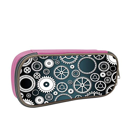 Mechanical Gear Large Capacity Multi-Layer Pencil Case Back To School Choice Pink by dreambest