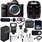 Sony Alpha a7S II a7S Mark II a7SII ILCE7SM2/B Mirrorless Digital Camera (International Model no Warranty) + Sony E-Mount SEL 18-55mm Zoom Lens (Black) + 49mm Filter Kit 6AVE Bundle 22