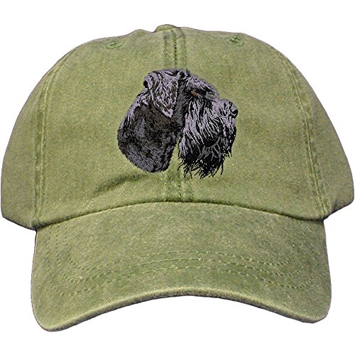 Cherrybrook Dog Breed Embroidered Adams Cotton Twill Caps - Spruce - Schnauzer ()