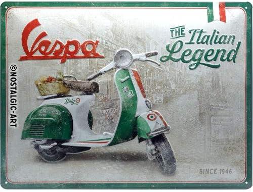 Vintage Retro Style VESPA 125 Parking Only Medium Sized Metal Tin Sign Italian