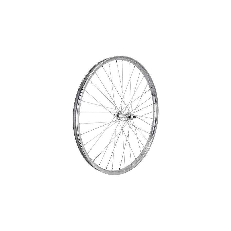 """Wheel Master Front Bicycle Wheel 26 x 1.75/2.125 (ISO 559) 36H, Steel, Bolt On, Silver, 3/8"""""""