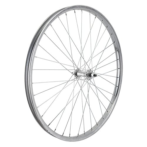 Wheel Master Front Bicycle Wheel 26 x 1.75/2.125 (ISO 559) 36H, Steel, Bolt On, Silver, 3/8""