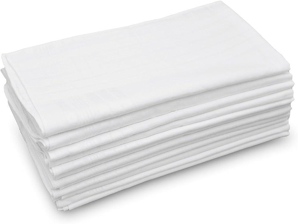 Mens Handkerchiefs Classic Hankies 15 PCS Hankerchief Pocket White 11in jin