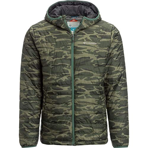 Columbia Men's Crested Butte Omni-Heat Hooded Jacket (Commando Camo, M)