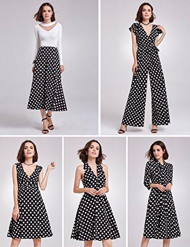 Alisapan Alisa Pan Women's Vintage 40s V-Neck Wrap Cap Sleeve Polka Dot  Printed Jumpsuit 05932: Amazon.co.uk: Clothing
