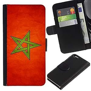 """Be-Star la tarjeta de Cr¨¦dito Slots PU Funda de cuero Monedero caso cubierta de piel Para Apple (4.7 inches!!!) iPhone 6 / 6S ( Bandera nacional de la Serie-Marruecos"""" )"""