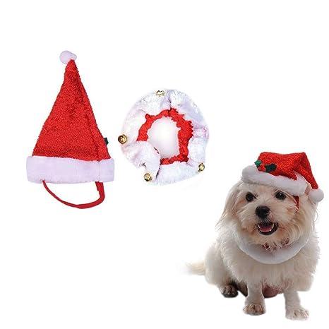 Fablcrew - Gorro de Navidad para mascotas, diseño de Papá ...