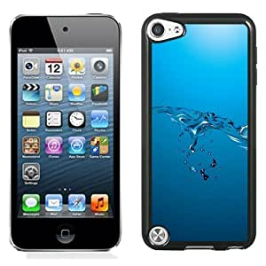 NEW Unique Custom Designed iPod Touch 5 Phone Case With Water Level Bubbles Simple Blue_Black Phone Case