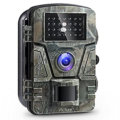 "Victure Trail Camera 1080P 12MP Wildlife Camera Motion Activated Night Vision 20m with 2.4"" LCD Display IP66 Waterproof Design for Wildlife Hunting and Home Security ?NEW VERSION? from Victure"