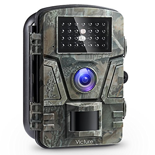 Victure Trail Game Camera 1080P 12MP Wildlife Camera Motion Activated Night Vision with 2.4 inch LCD...