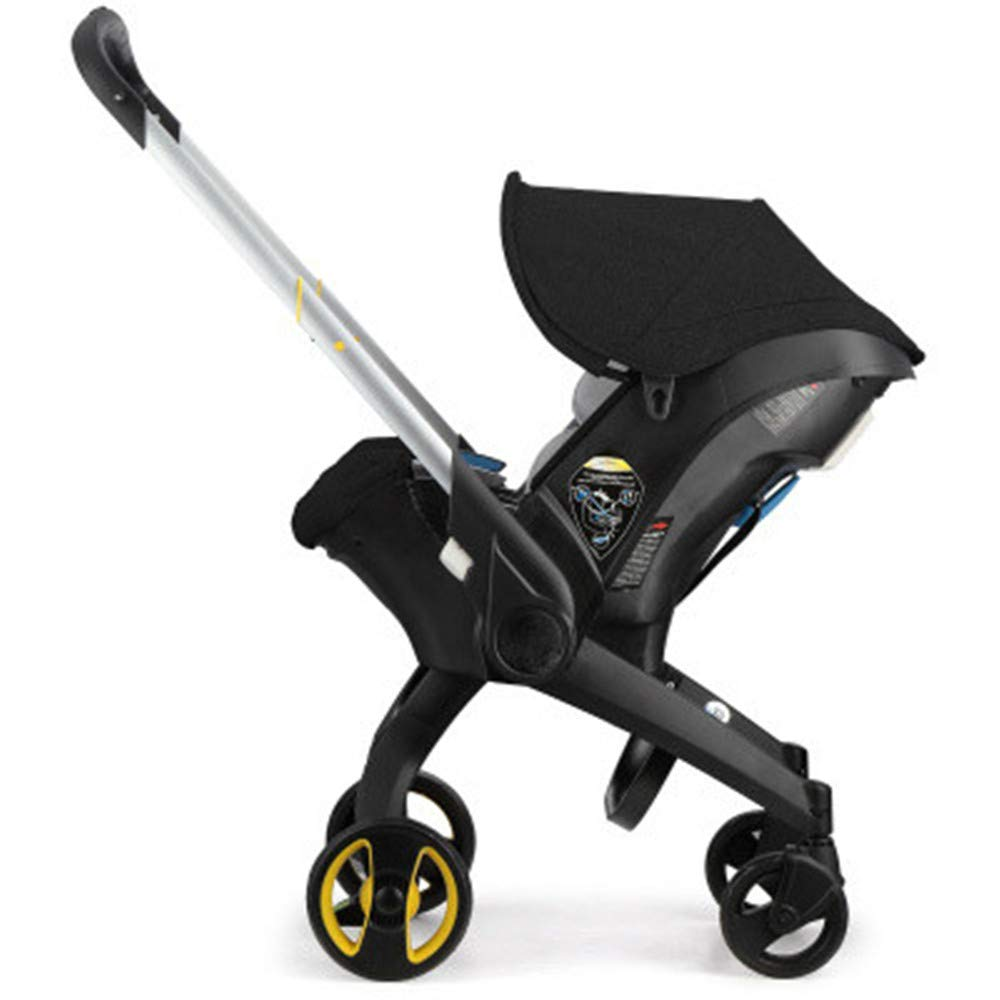 Infant Baby Stroller 4 in 1 Newborn Bassinet Cradle Type Child Safety Seat Baby Carriage Basket Baby Car Travel System (Black)