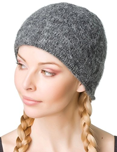 Freyja Canada Winter Wool Hat Beanie Cap Solid Grey 100% Icelandic Wool Women Men 2 Ply Extra Warm ()