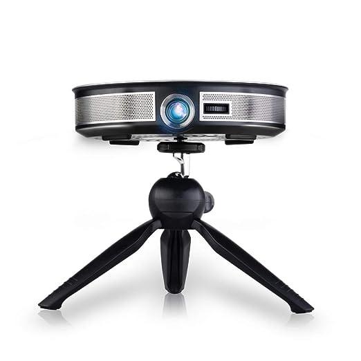 LWGHE Proyector de Cine en casa con Soporte para trípode 1080P 4K ...