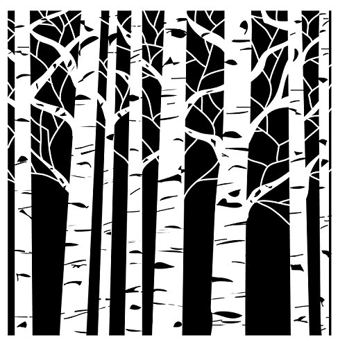 Crafters Workshop Framing Template, 6 by 6-Inch, Aspen Trees (Crafters Workshop Stencil)