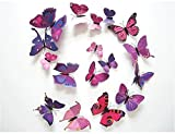 HAKDAY 24 PCS 3D Butterfly Wall Stickers Crafts