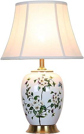 Ckh Lampada Da Tavolo Classica In Ceramica Da Fiori In Porcellana Lampada Da Tavolo In Ceramica Da Comodino Cinese Amazon It Casa E Cucina