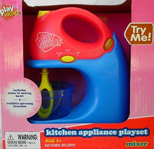 Play Right Kitchen Appliance Playset- Toy Mixer