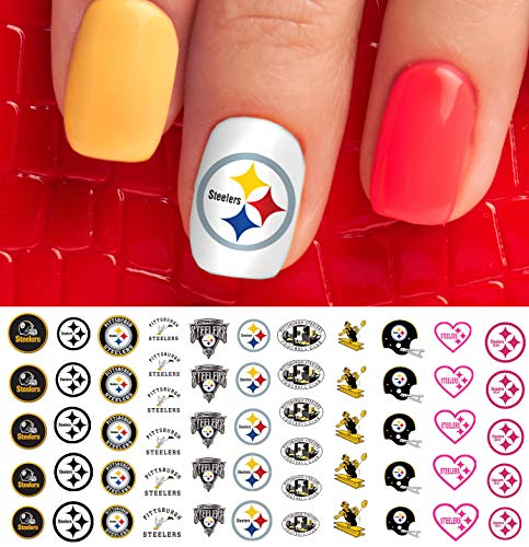 Pittsburgh Steelers Football Waterslide Nail Art Decals - Salon Quality -