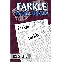 Image for Farkle Score Sheets: Farkle Score Keeping Cards, Farkle Scorecards - 6x9 Inch Large Pads