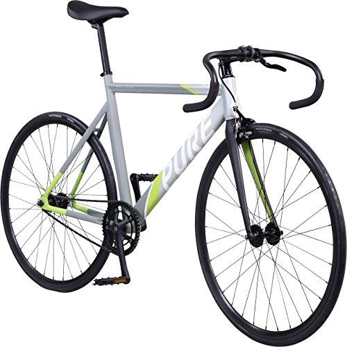 (Pure Cycles Keirin Pro Ultra-Light Alloy Complete Track Bike, 55cm/Medium, Cyril Green)