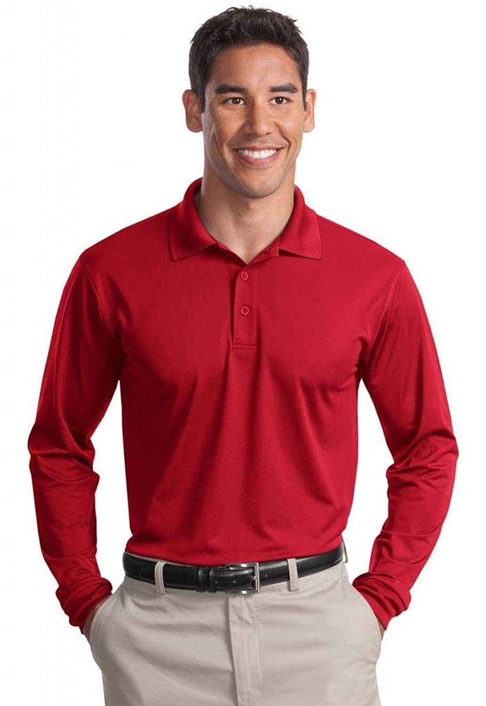 Sport-Tek Men's Long-Sleeve Sport-Wick Polo Shirt,XX-Large,True Royal