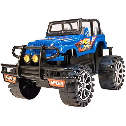 TukTek Kids First Toy Jacked Up 4x4 Truck in Assorted Colors Friction Play Push Monster Vehicle for Boys & Girls