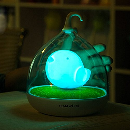 Berry President® Children's Night Lights Hand-held Design Touch Sensor Vibration Birdcage Lamp Bird Night Lights - Charging - For Kids, Baby ,Valentines Gift,outdoor Lamp (Blue)