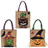 YDBAG Halloween Decorative Reusable Drawstring Gift Bag,Children's Festive Candy Bag Party Party Show Dress up Witch Pumpkin Bag(3 Pack)