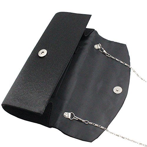 Women Purse Bag Wedding Crystal Satin Clutch Evening Cckuu Prom Diamante Party Black Pink Hn6T4Bqdwd
