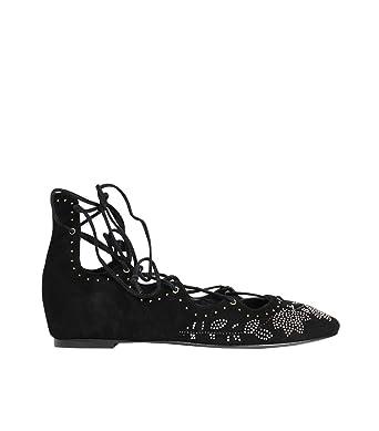 ASH Damen Sandale aus Leder mit Verzierung Schwarz