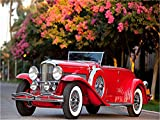 Paint by Numbers Kit DIY Oil Painting Kit for Kids and Adults - Old Fashion Car 16'x20' (Framed)