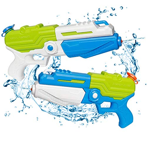 2 PCS Water Squirt Guns, Water Pistol Shooting Kids& Adults Water Blaster Distance Summer Toys for Swimming Pools Party Outdoor Beach Sand Water Fighting
