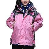 Minghe Kid's 3 in 1 Interchange Windproof Ski Jacket Fleece Liner Pink 10/11
