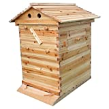 Honey Flow Beehive Wooden Box,Bee Hive House fit for 7pcs Auto flow...