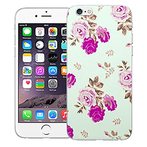 "Mobile Case Mate iPhone 6S Plus 5.5"" Silicone Coque couverture case cover Pare-chocs + STYLET - Roselet pattern (SILICON)"