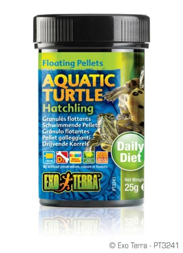 Exo Terra Hatchling Aquatic Turtle Food, - Turtle Aquatic Hatchling