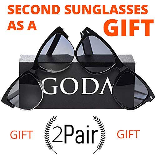 18c179d9586 Wayfarer Polarized Sunglasses Glare-Free UV400 Protection Factor Lenses For  Men Women Unisex