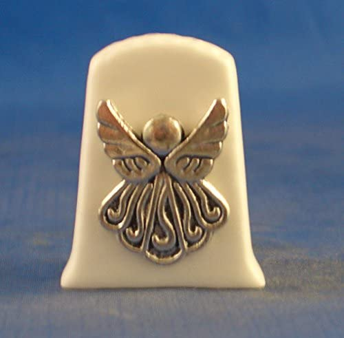 Antique Silver Angel with Free Gift Box Porcelain China Collectable Thimble