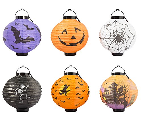 Halloween Jack-O Lanterns Decorations,with LED Light Hanging Outdoor Yard Party Decor,pack of -