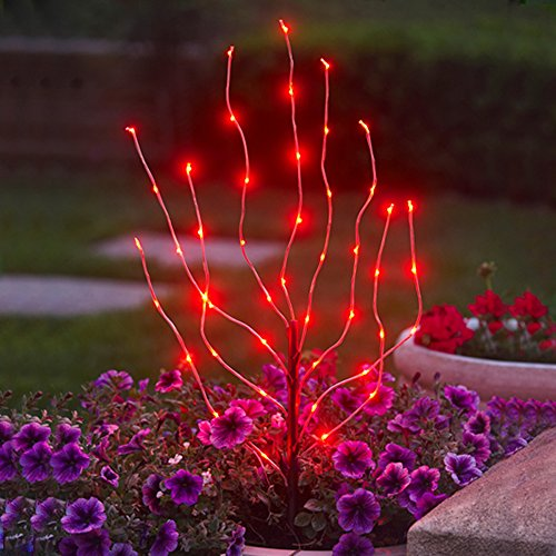 Exhart Anywhere Lighting Battery Operated LED Branch Lights, Red (Discontinued by Manufacturer) ()