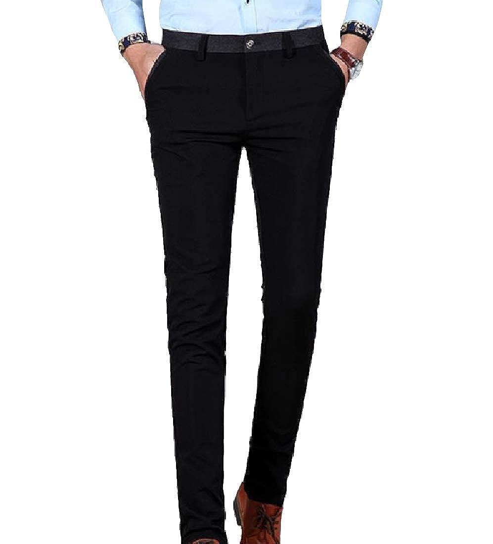 Winwinus Mens Regular-Fit Comfy Fit Plus Size Dress Business Dress Pant