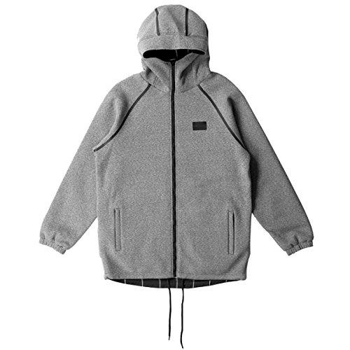 Crooks & Castles Mens Blotter Hoody Zip Sweatshirt Large Black/Speckle Grey