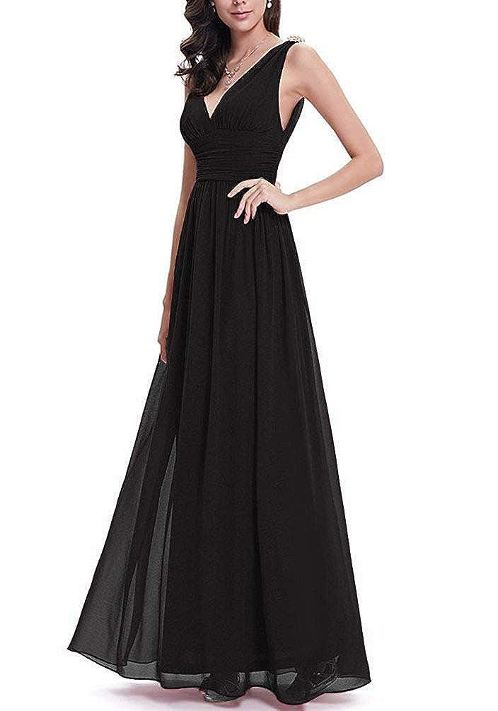 Smithroad Damen Chiffon Elegante Abendkleider Lange Ballkleider Damen Bekleidung Chataterezka Cz