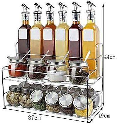 調味料ボトル、 スパイスボックスセットホームキッチンオイルボトル調味料瓶37 * 19 * 44センチメートル ++ (色 : A)