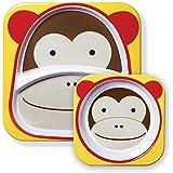 Skip Hop Zoo Melamine Set Kinderteller und Breischale Monkey