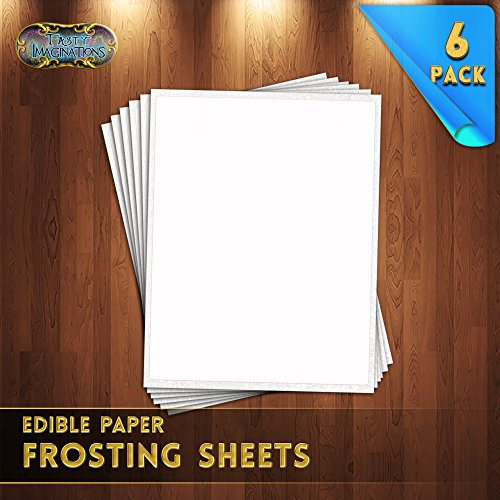 Tasty Imaginations Apprentice Sheets (Frosting Sheets, 6-Pack (8.5